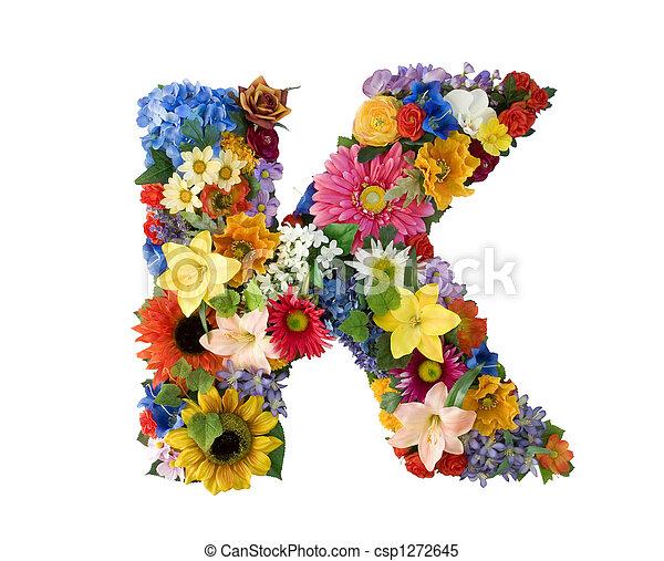 Flower Alphabet - K - csp1272645