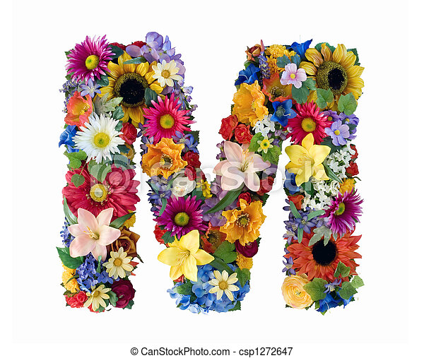 Flower Alphabet - M - csp1272647