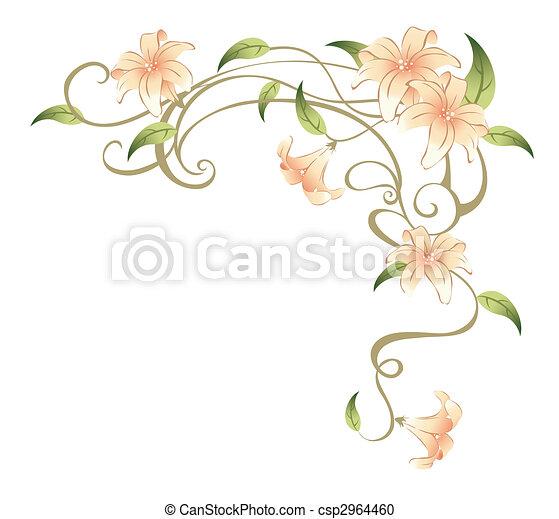 Vine Flower Illustration