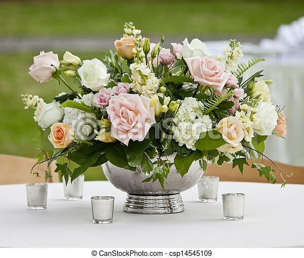 Flower arrangement in silver bowl with pink and white roses flower arrangement in silver bowl csp14545109 mightylinksfo