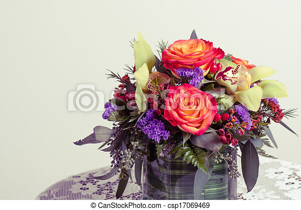 Flower Arrangement - csp17069469
