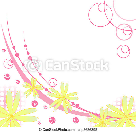 flower background for art projects - csp8686398
