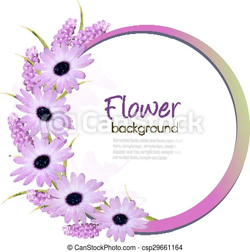 Flower Background With Beautiful Purple Flowers