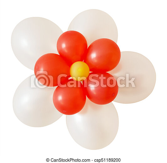 Flower balloons decoration for holiday - csp51189200