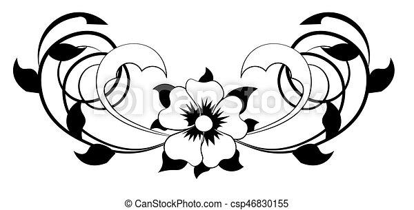 Flower black white beautiful flower pattern with spirals flower black white csp46830155 mightylinksfo