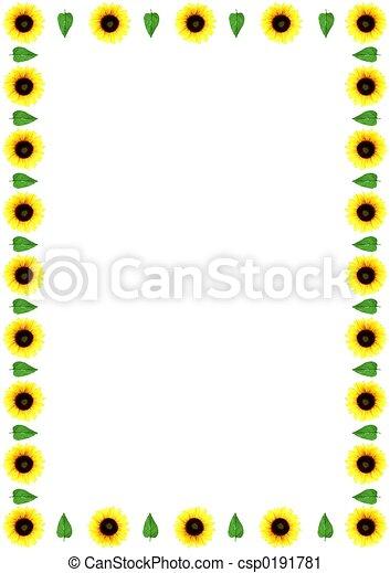Flower Border Yellow Flower Border Or Frame
