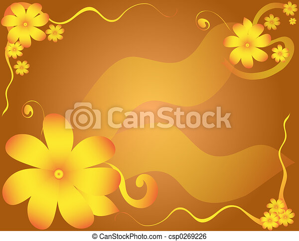Flower Border - csp0269226