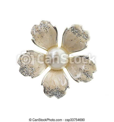 Flower brooches on white background stock photographs search photo flower brooches on white background csp33754690 mightylinksfo