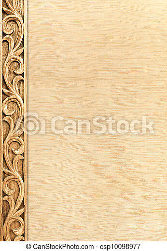 flower carved frame - csp10098977