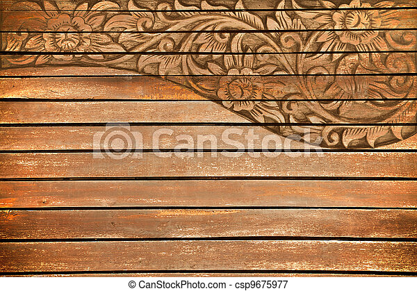 flower carved frame - csp9675977