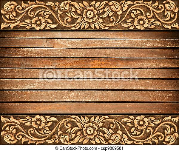 flower carved frame - csp9809581