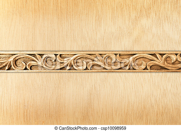 flower carved frame - csp10098959