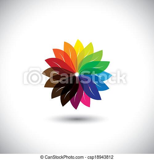 Flower Color Wheel Vector Icon Flower Color Wheel Vector Icon In