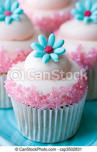 Flower cupcakes - csp3502831