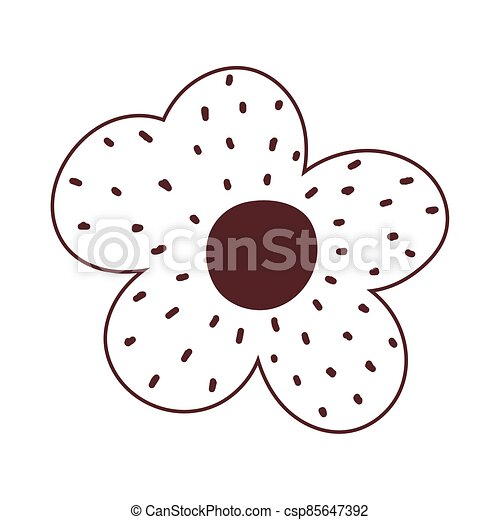 flower decoration ornament natural isolated icon design line style - csp85647392