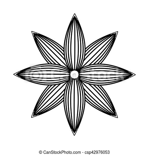 flower drawing isolated icon - csp42976053