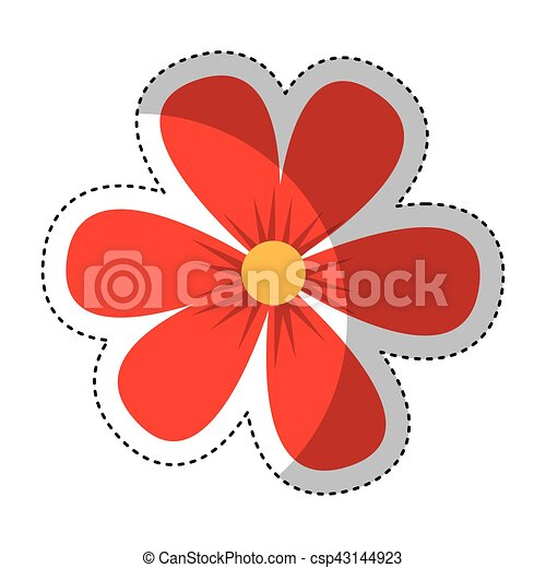 flower drawing isolated icon - csp43144923
