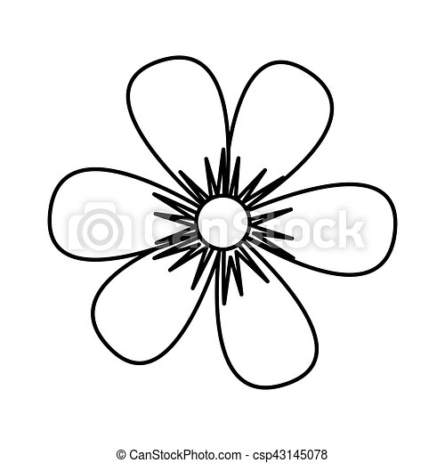 flower drawing isolated icon - csp43145078
