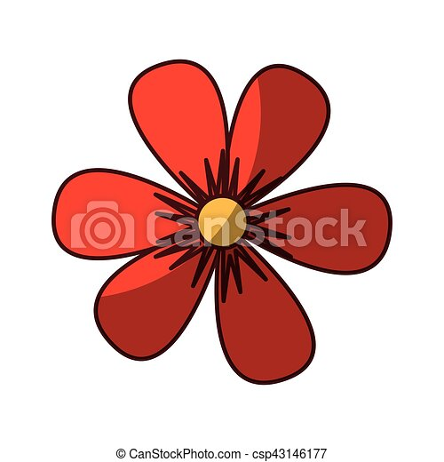 flower drawing isolated icon - csp43146177