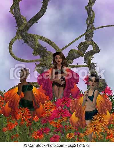 Flower Fairies - csp2124573