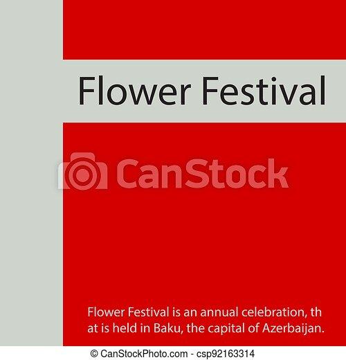 Flower Festival. - csp92163314