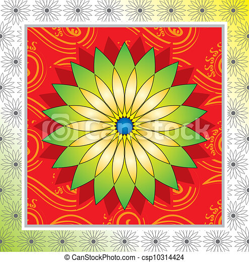 Flower frame design - csp10314424