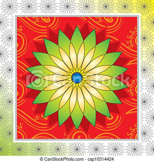 Flower frame design - csp10314424