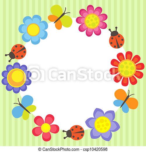 Flower frame - csp10420598