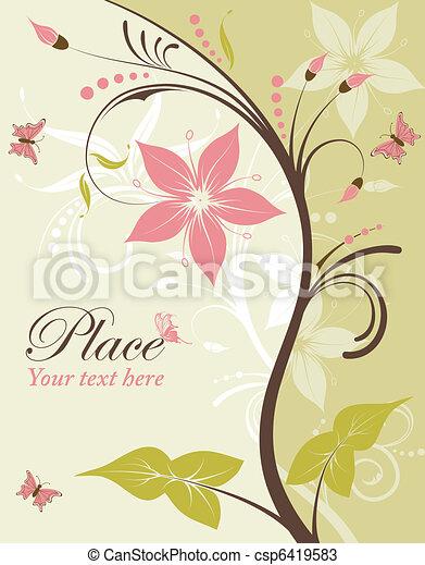 Flower frame - csp6419583
