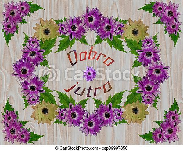 Flower Frame Leaves Marguerite