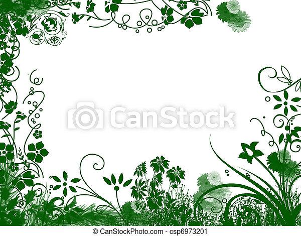 flower frame - csp6973201