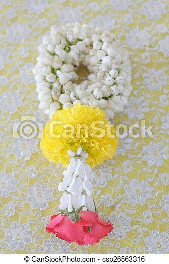 flower garland - csp26563316