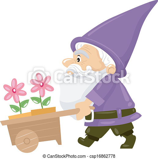 Flower Gnome - csp16862778