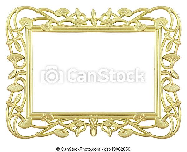 flower gold frame - csp13062650