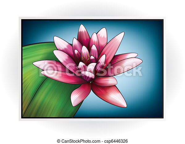 Nymphaeaceae water lily vector pink flower icon on the ocean flower icon csp6446326 mightylinksfo
