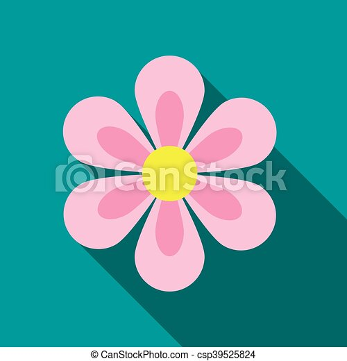 Flower icon flat style flower icon in flat style with long shadow flower icon flat style csp39525824 mightylinksfo