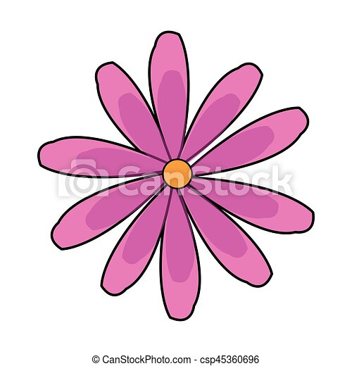 Pink flower icon image vector illustration design flower icon image csp45360696 mightylinksfo