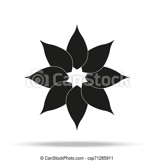 Flower Icon in trendy flat style isolated on grey background. Spring symbol for your web site design, logo, app, UI. Vector illustration, - csp71285911
