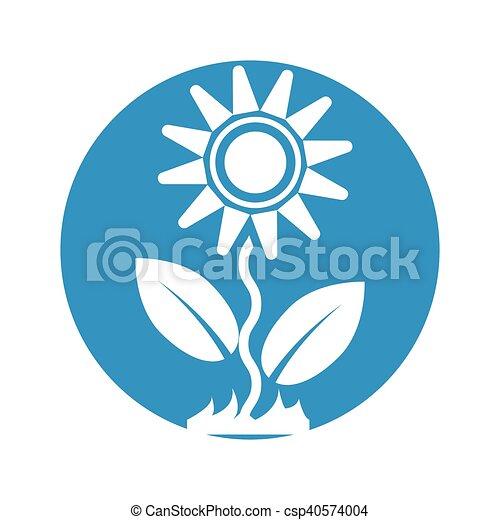 flower icon on white background - csp40574004