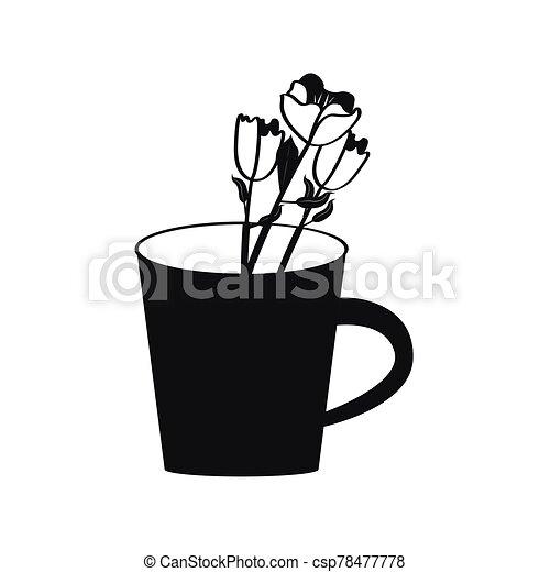 Flower in a mug - csp78477778