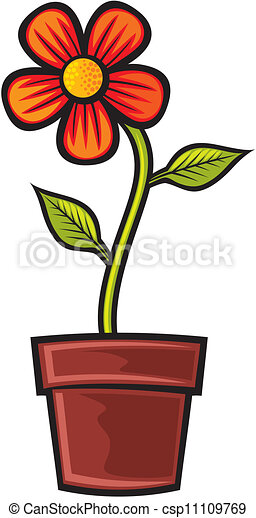 flower in pot clip art vector search drawings and graphics images rh canstockphoto com flower pot clip art images flower pot clipart black and white