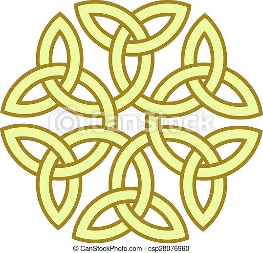 Flower Like Celtic Knot Vector