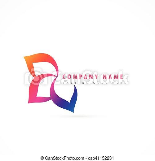 flower logo design template - csp41152231