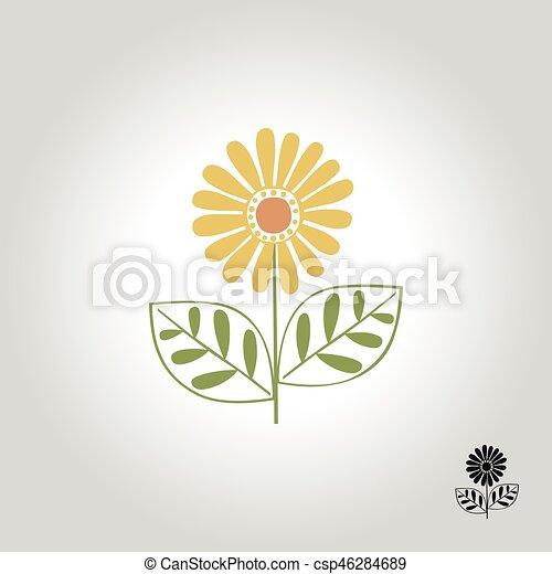 flower logo - csp46284689