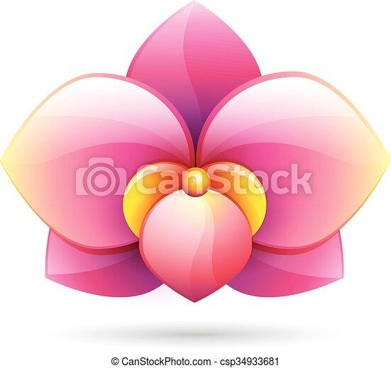 flower logo icon vector - csp34933681
