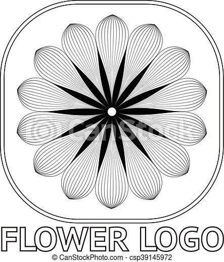 FLOWER LOGO - csp39145972
