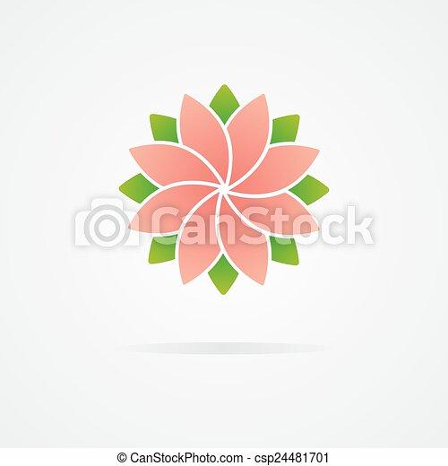 Flower logo - csp24481701