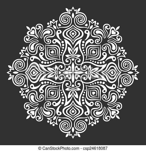 Flower Mandala. Abstract element for design - csp24618087