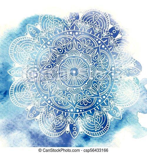 Flower Mandala Vintage Tattoo Decorative Elements Oriental Pattern Vector Illustration Islam