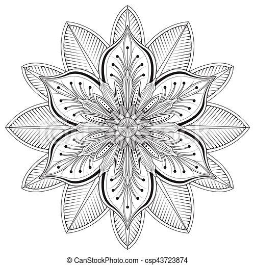 Flower Mandalas Vector Illustration Flower Mandalas